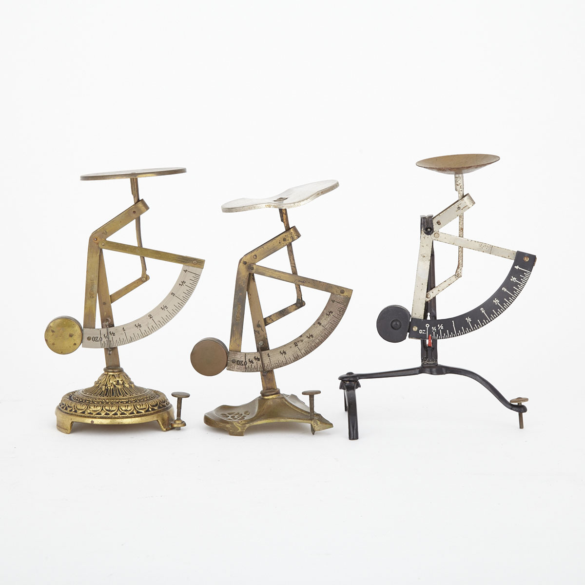 Three Continental Postal Scales, 19th and early 20th centuries
