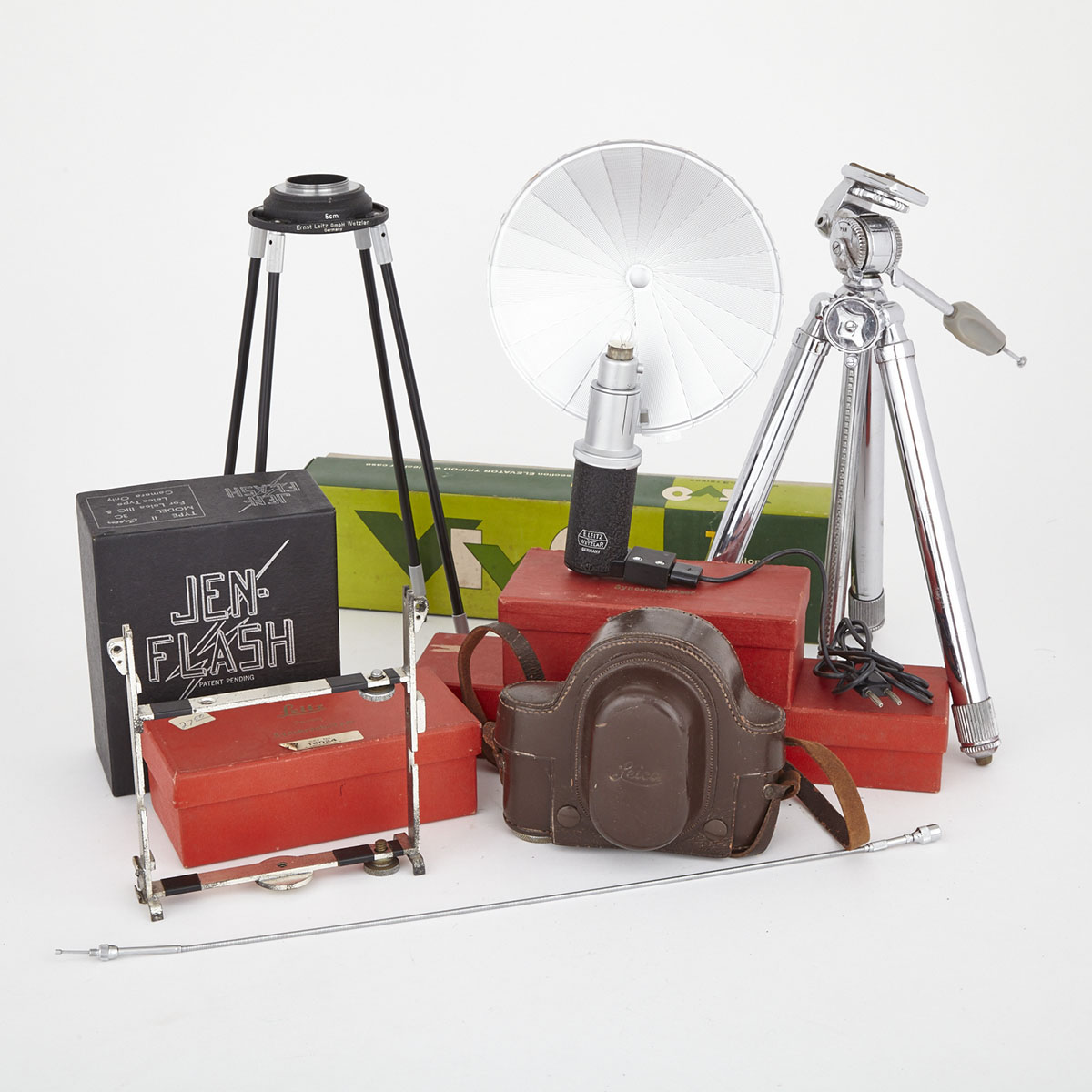 Group of Leica Camera Accessories, mid 20th century