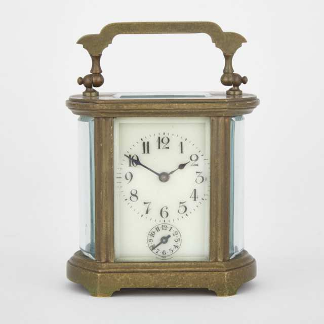 Small French Carriage Clock with Alarm, c.1900