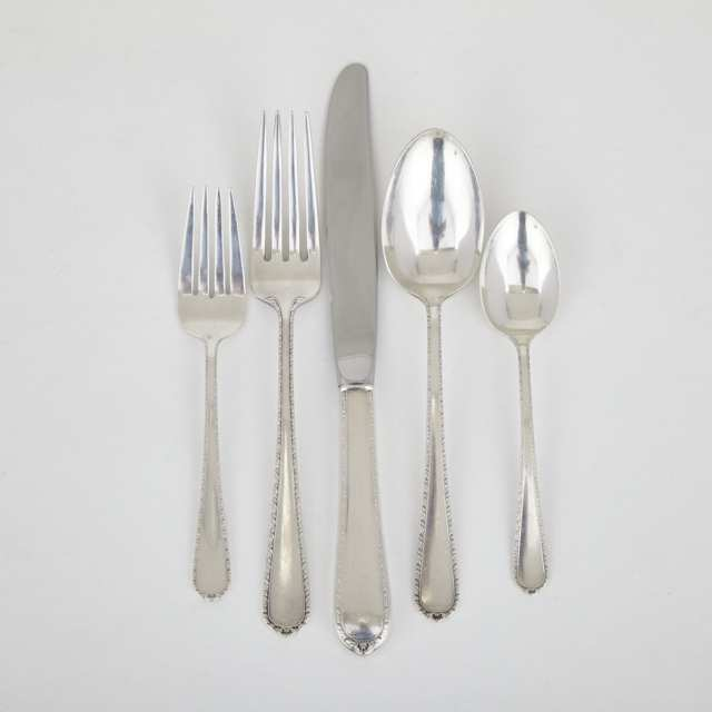 American Silver 'Pinetree' Pattern Flatware, International Silver Co., Meriden, Ct., 20th century