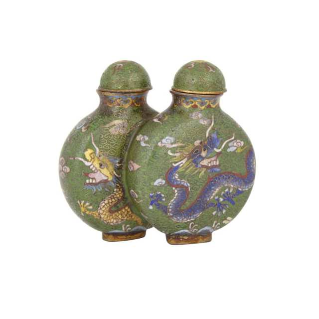 A Cloisonné 'Double' Snuff Bottle, 19th Century