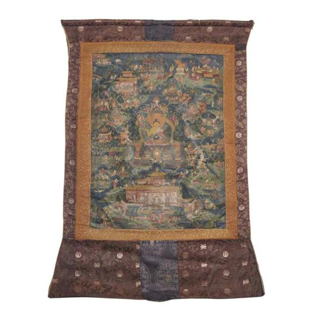 Two Thangkas, Qing Dynasty, 18th/19th Century