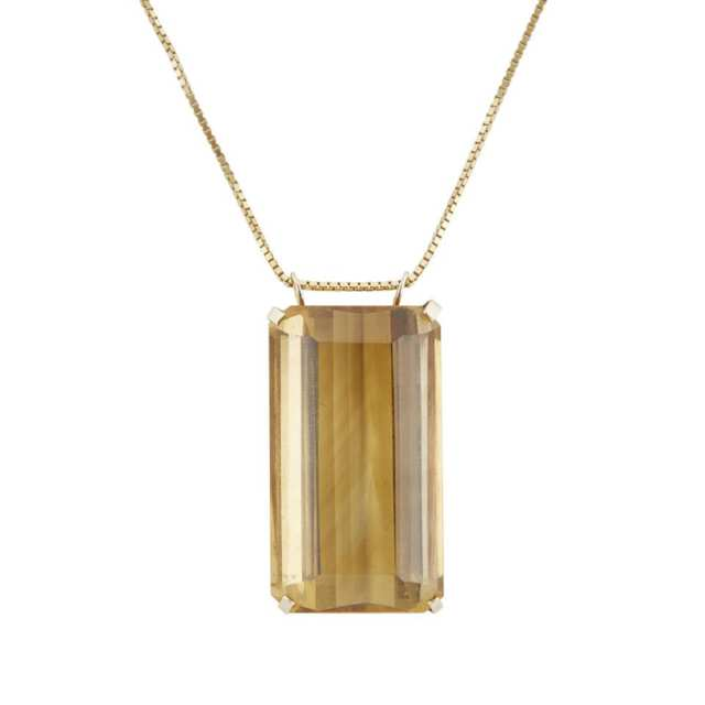 Large Emerald Cut Citrine