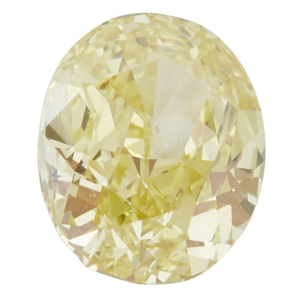 Unmounted Oval Cut Fancy Yellow Diamond