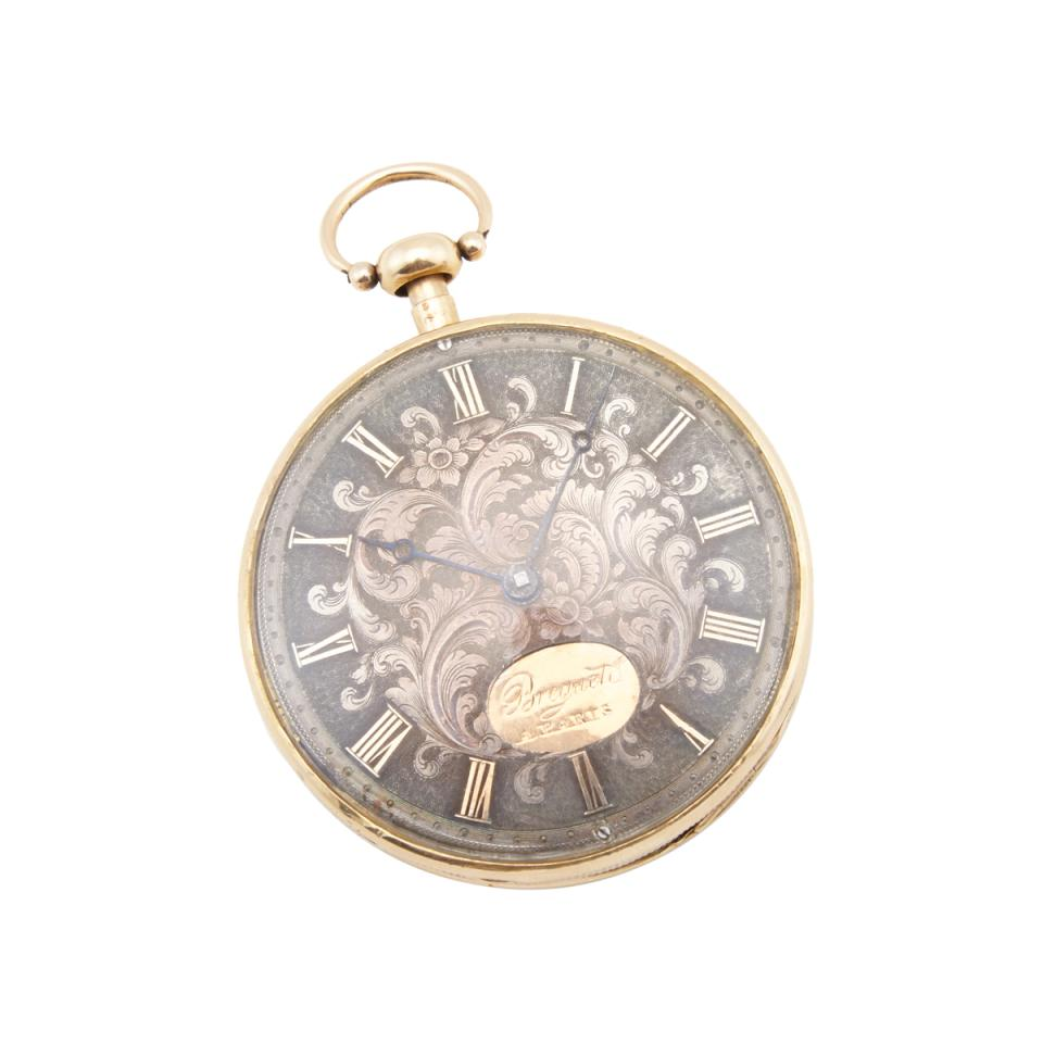 French 19th Century Keywind, Openface Pocket Watch With Repeat And Erotic Automaton