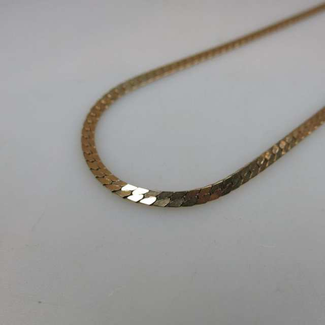 10k Yellow Gold Flat Link Chain
