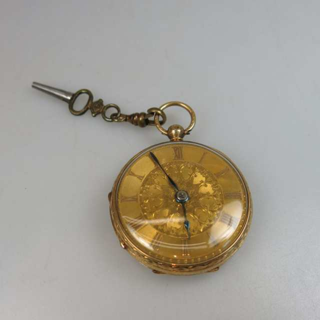 A. Tuke Keywind, Openface Pocket Watch