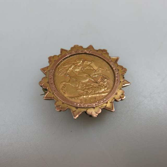 English 1900 Gold Sovereign