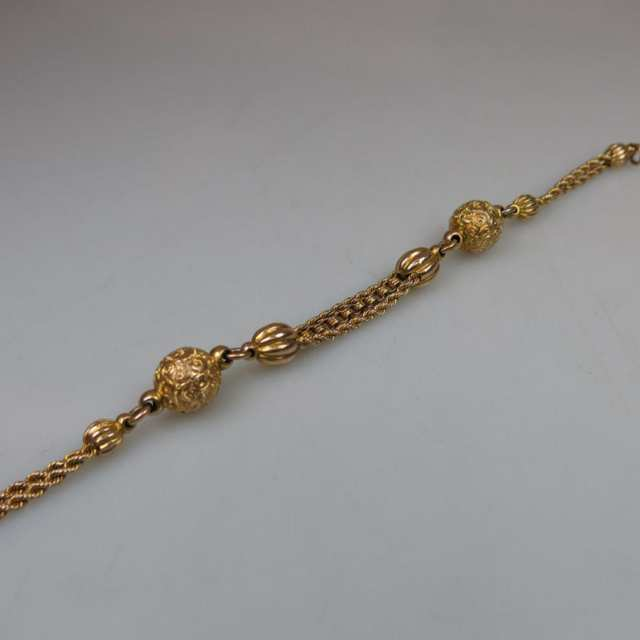 14k Yellow Gold Double Rope Bracelet
