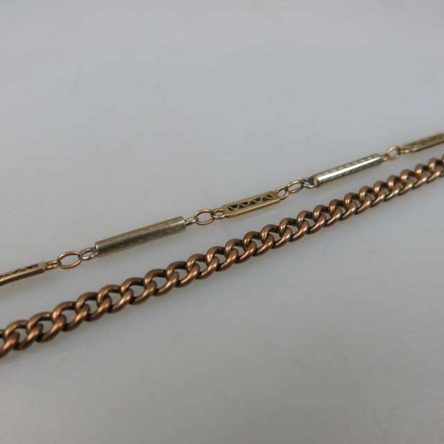 9k And 14K Rose, Yellow And White Gold Watch Chains