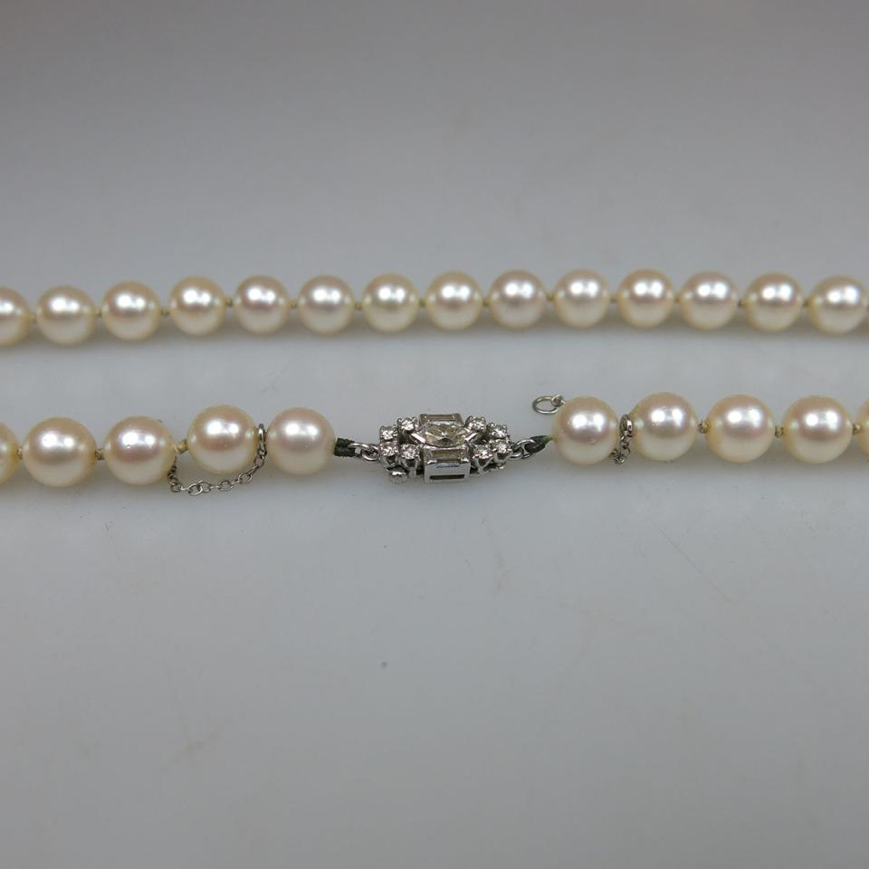 Single Strand Of Cultured Pearls