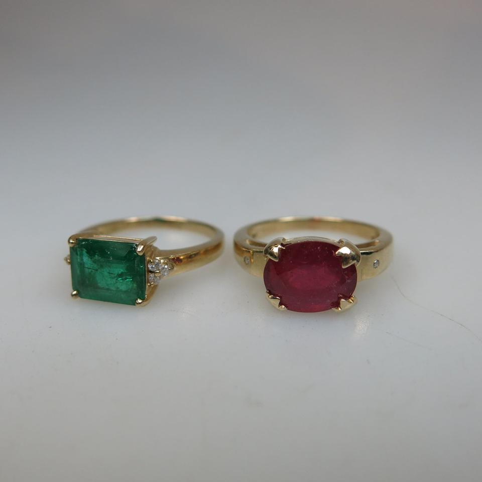 Two English 9k Yellow Gold Rings