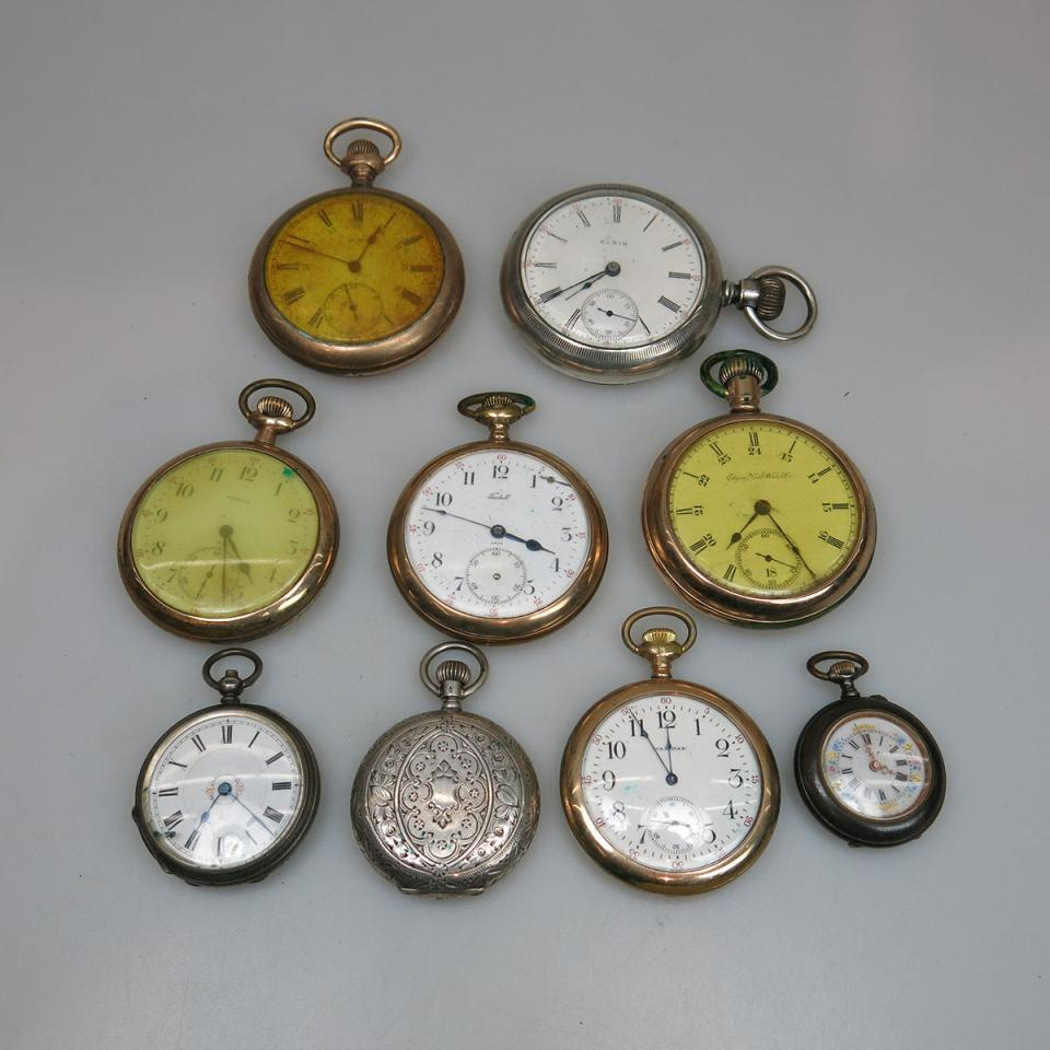 9 Various Pocket Watches
