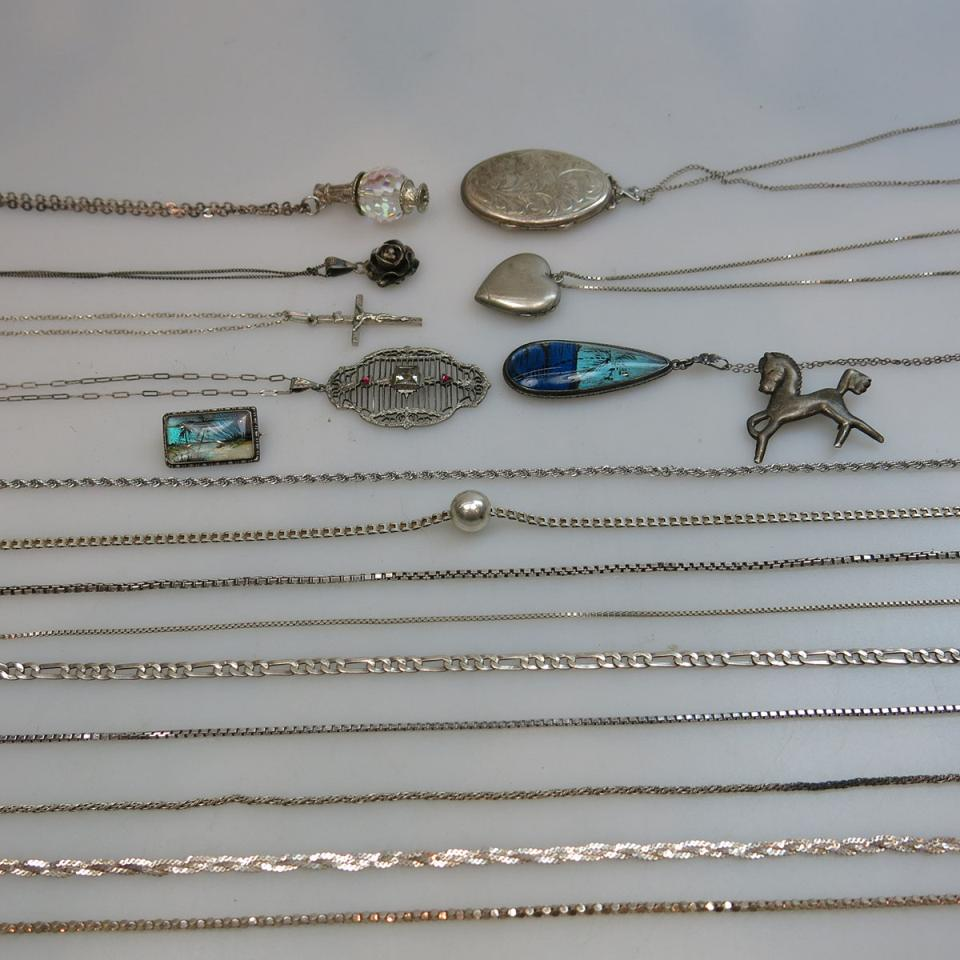 30 Various Silver Chains