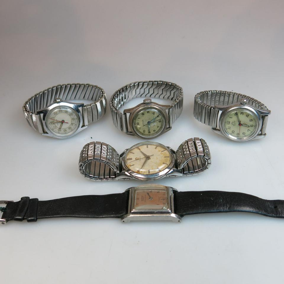 5 Various Vintage Wristwatches