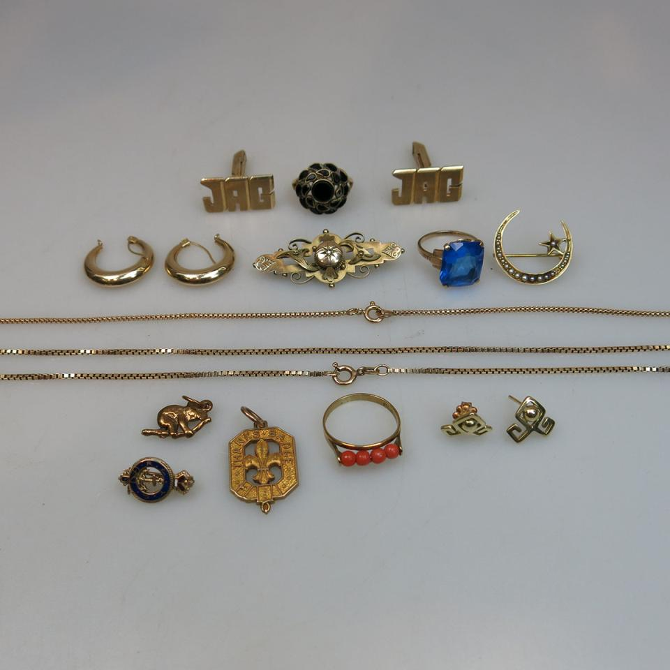 Small Quantity Of Gold Jewellery