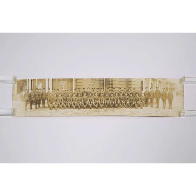 Panoramic Photograph of the Sergeants of the 204th Overseas Battalion, Canadian Expeditionary Forces, Toronto, November 16th, 1916