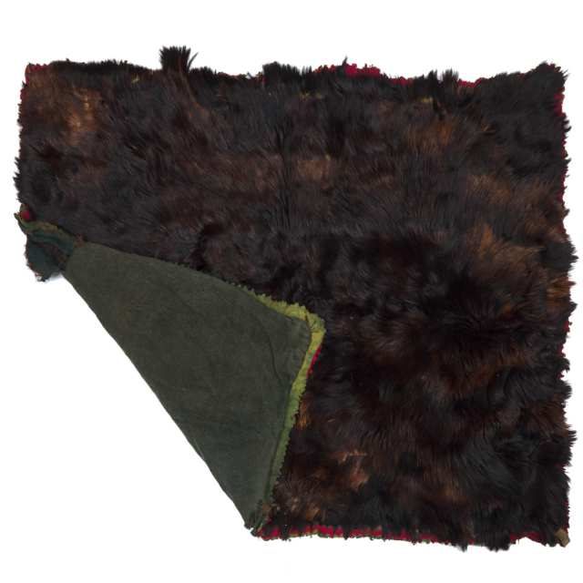Victorian Bearskin Carriage Blanket, 19th century