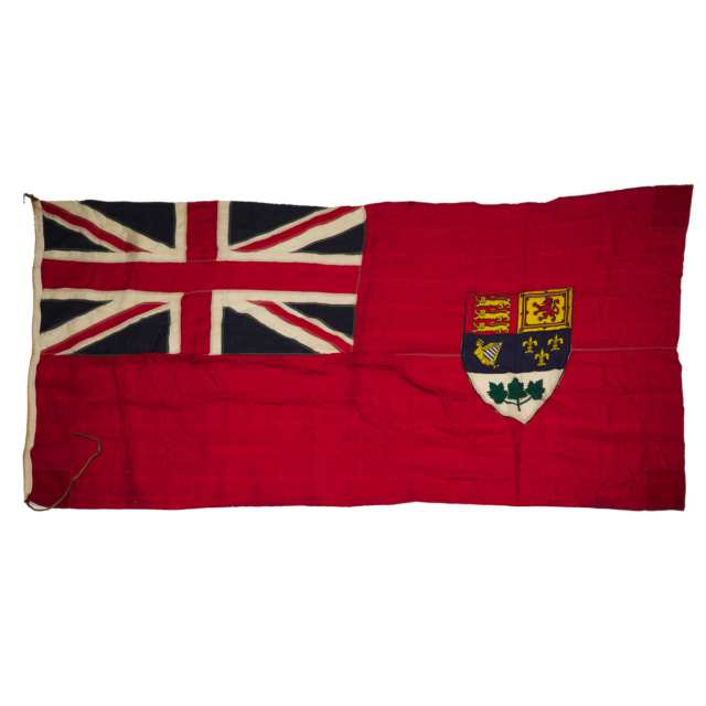 Large WWII Era Canadian Red Ensign, mid 20th century