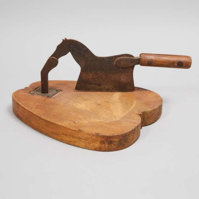 Quebec Horse Form Tobacco Cutter, 19th century