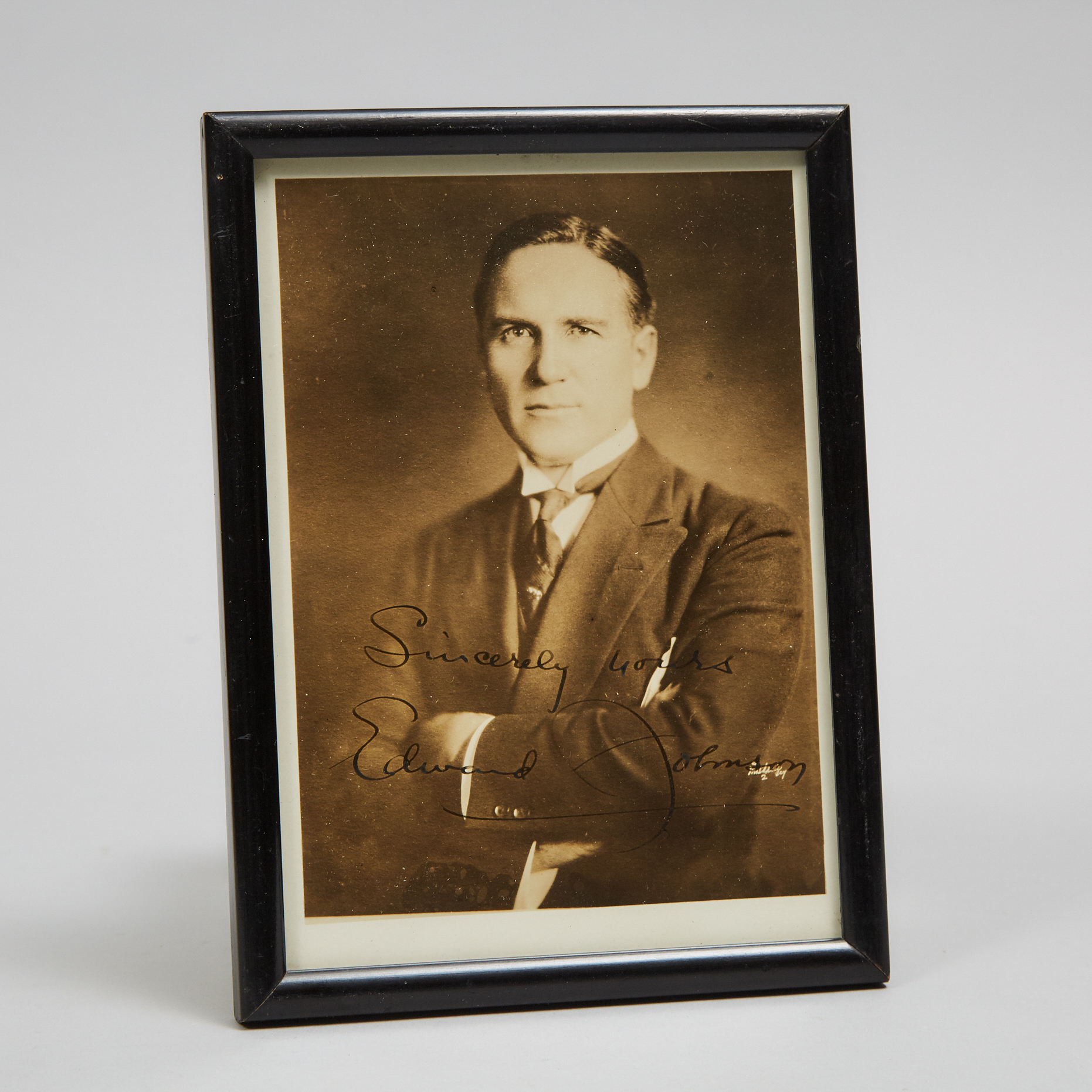 Edward Johnson (1878-1959) Signed Photograph Portrait, early-mid 20th century