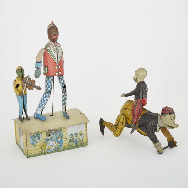 Two Lithographed Tin Clockwork Toys, early 20th century