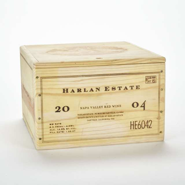 HARLAN ESTATE PROPRIETARY RED WINE 2004 (6) 98 WS 98 WA