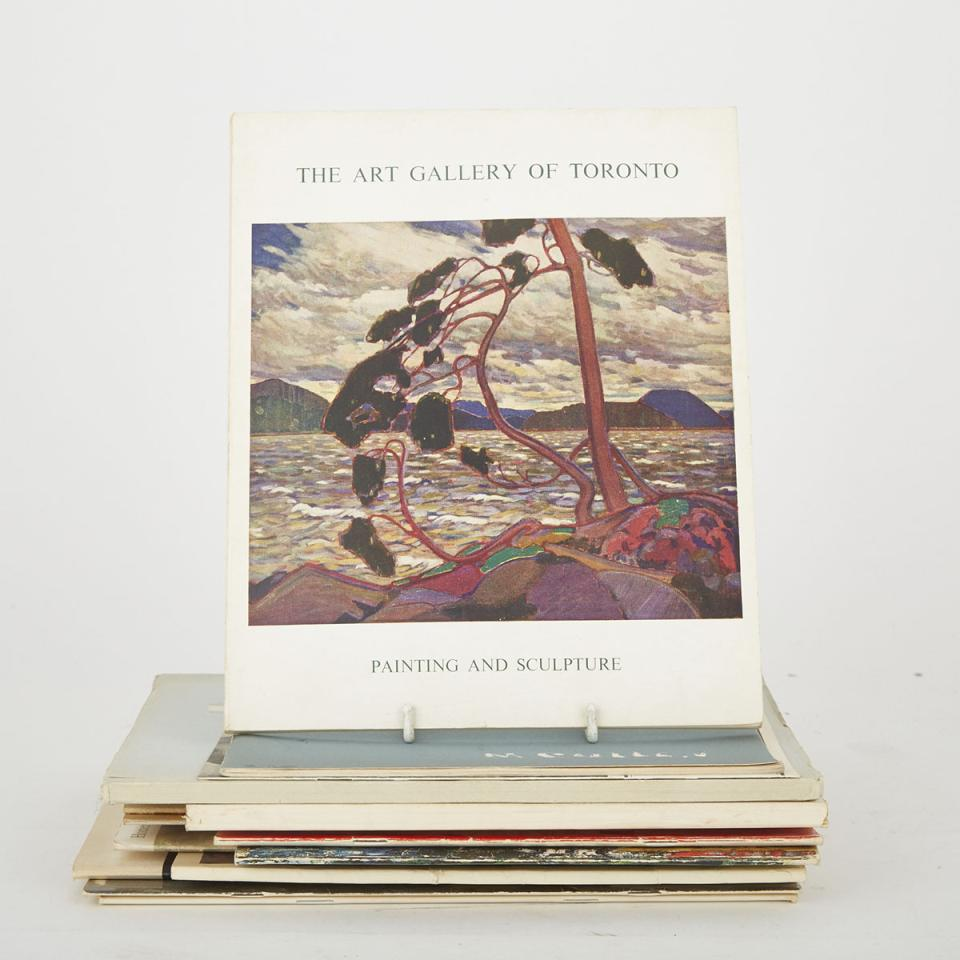 Canadian Art Catalogues (14 volumes)