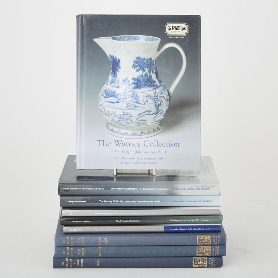 English Porcelain Collections Catalogues (8 volumes)