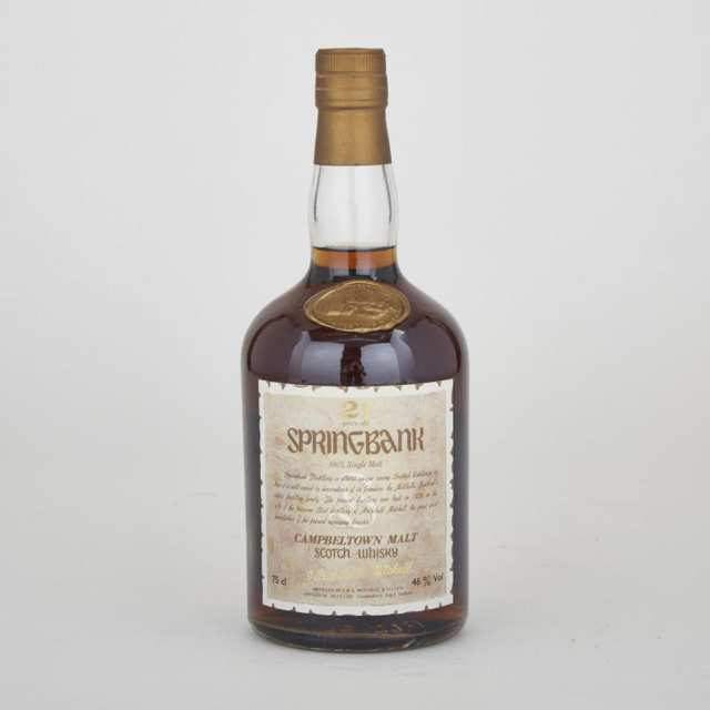 SPRINGBANK CAMPBELTOWN SINGLE MALT SCOTCH WHISKY  (1)