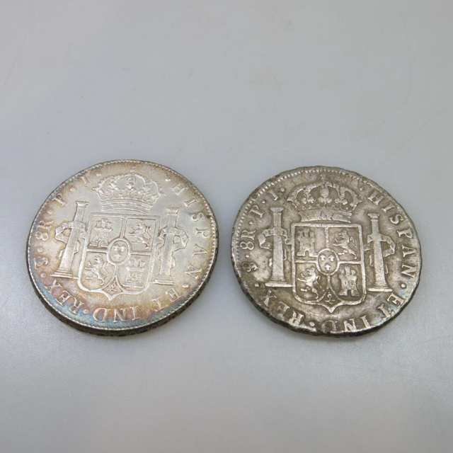 Two Bolivian 8 Reales