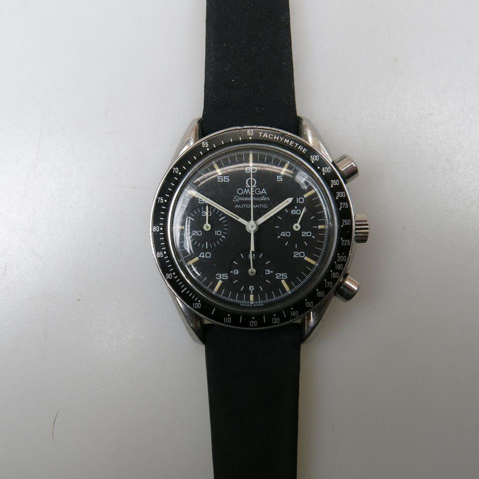 Omega SpeedMaster (Reduced) Automatic Wristwatch With Chronograph