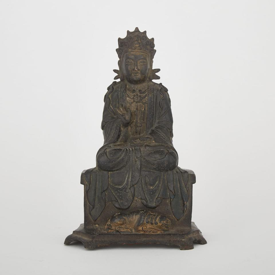 A Bronze Figure of Buddha, Ming Dynasty