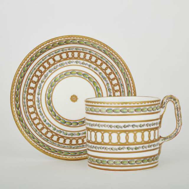 Bristol Coffee Can and Saucer, c.1775