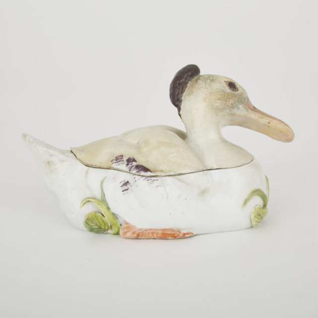 Chelsea Duck-Form Tureen and Cover, c.1755