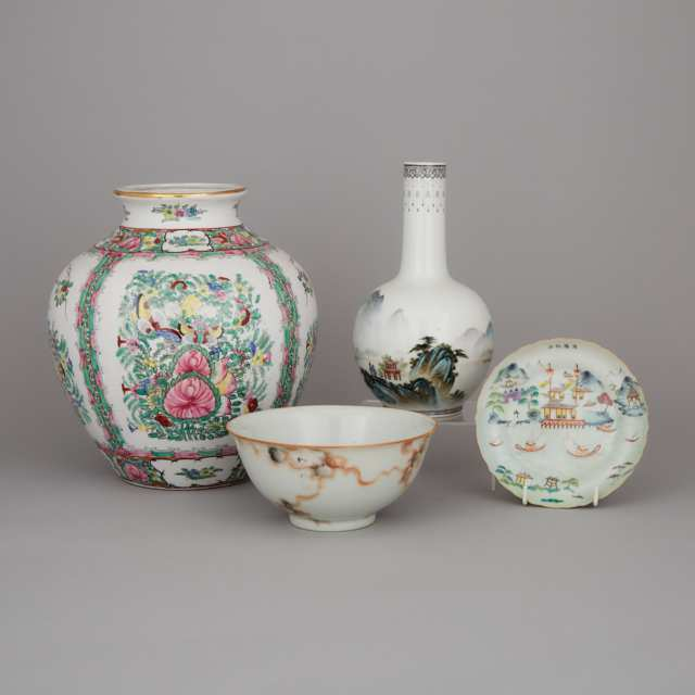 A Group of Four Porcelain Wares