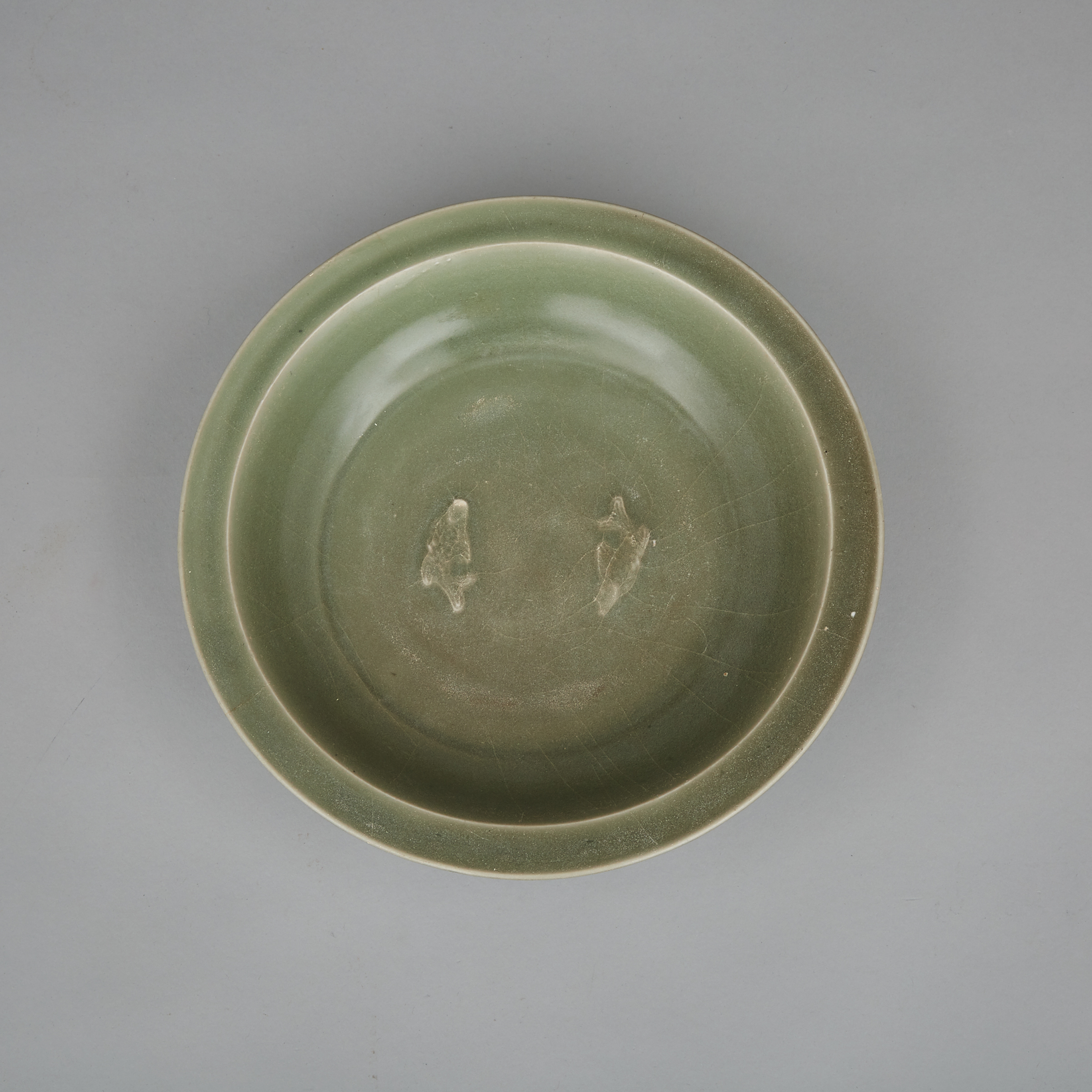 A Longquan 'Twin Fish' Dish, Song Dynasty