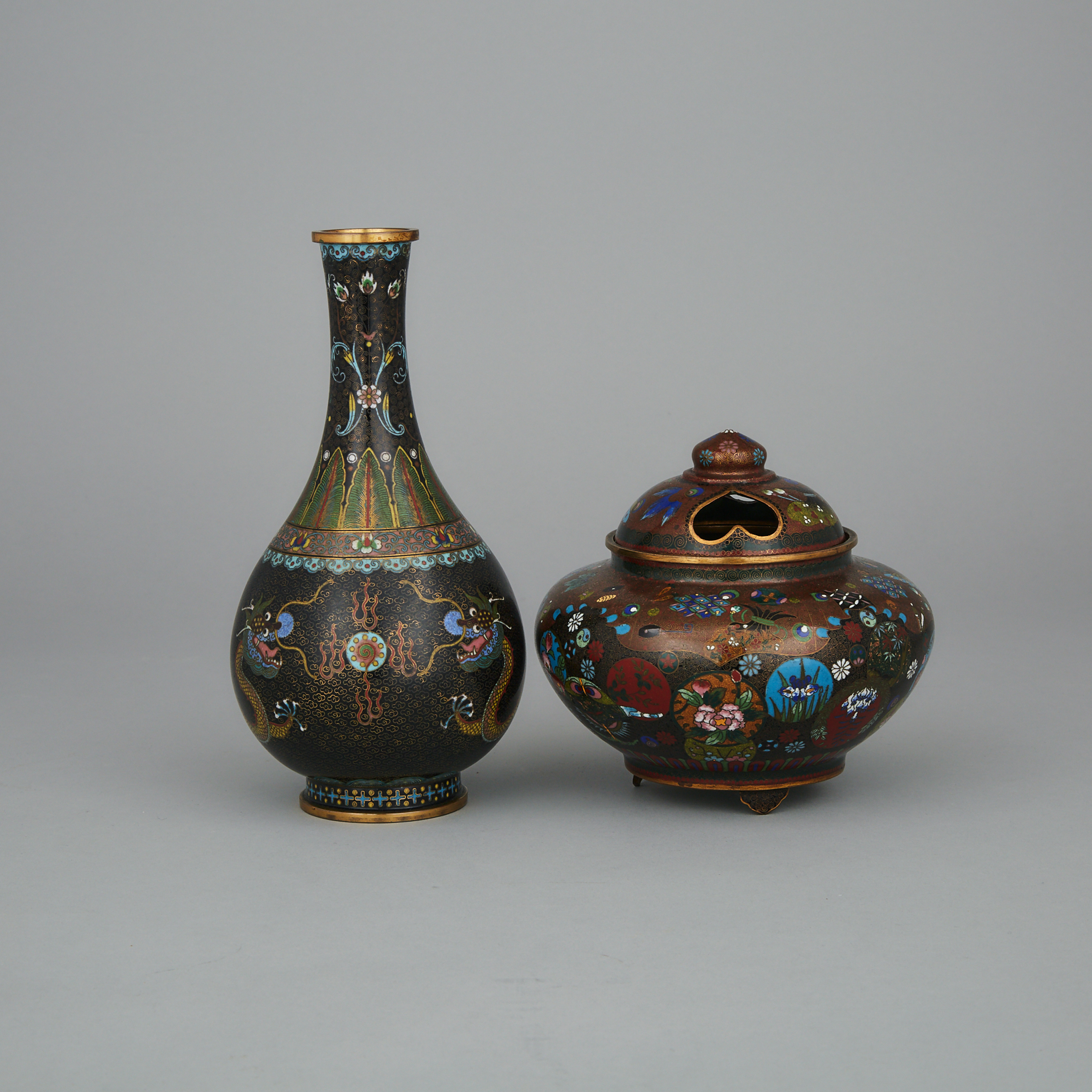 Two Cloisonné Vessels