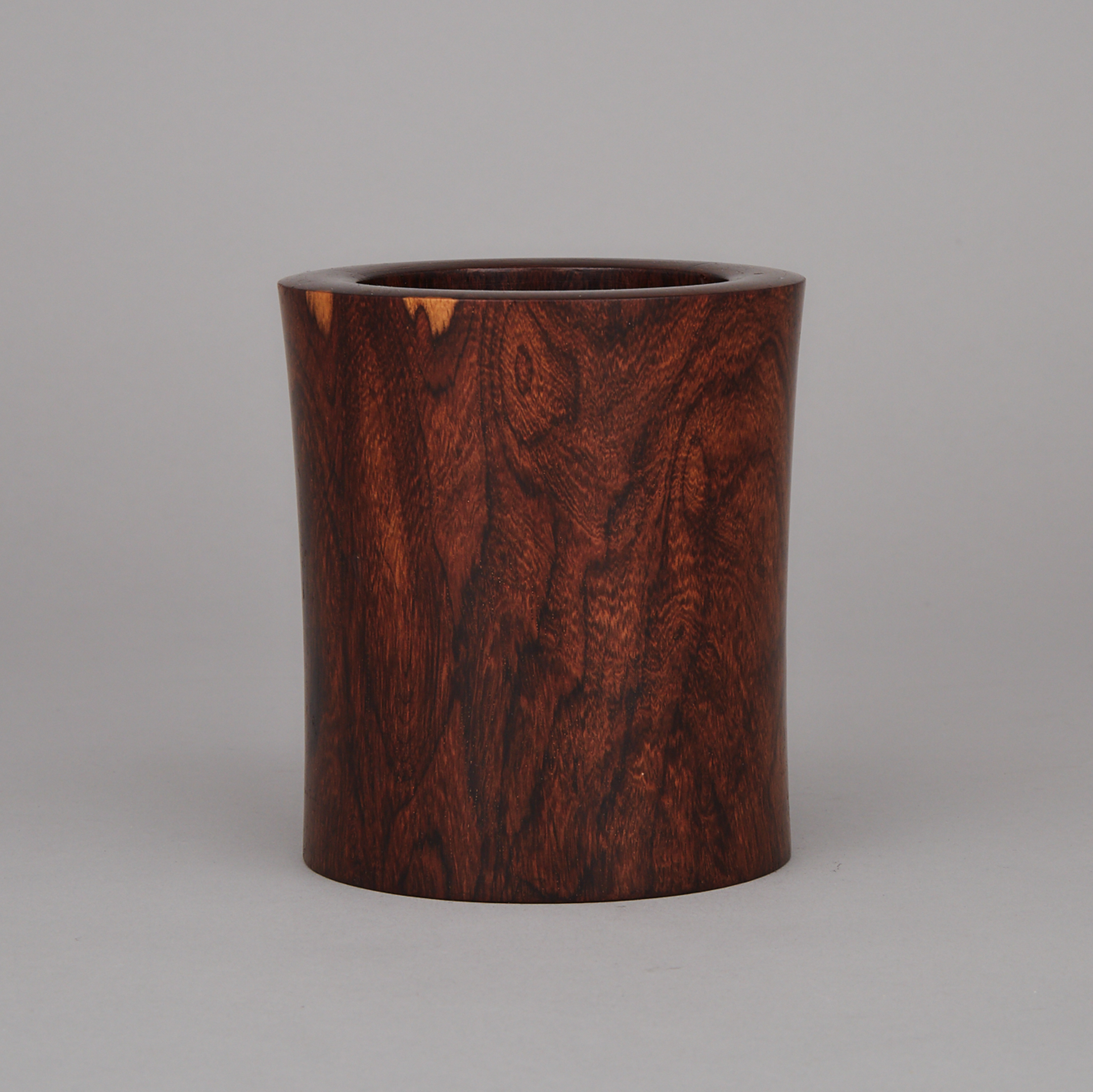 A Rosewood Carved Brushpot