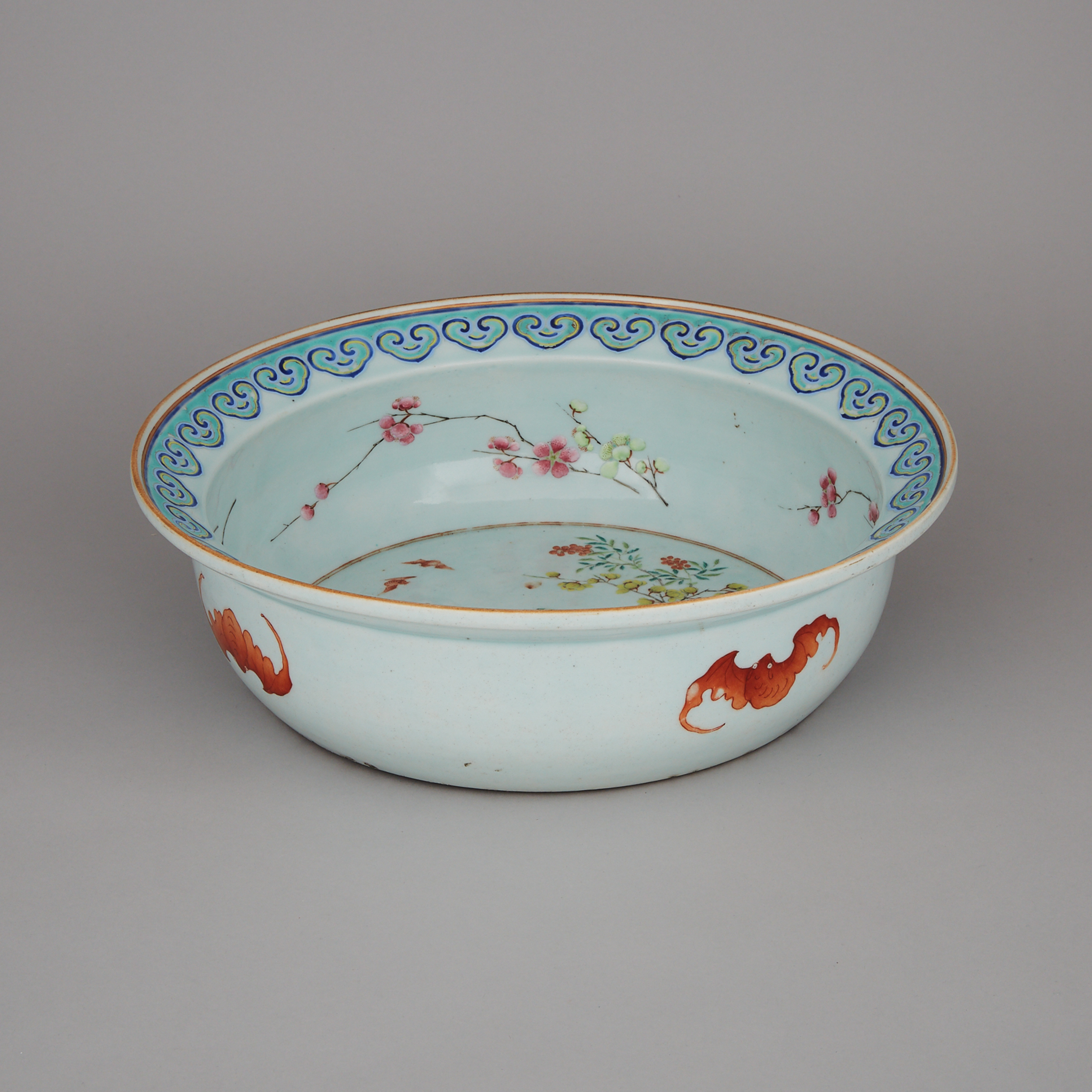 A Large Famille Rose Washbasin, Republican Period