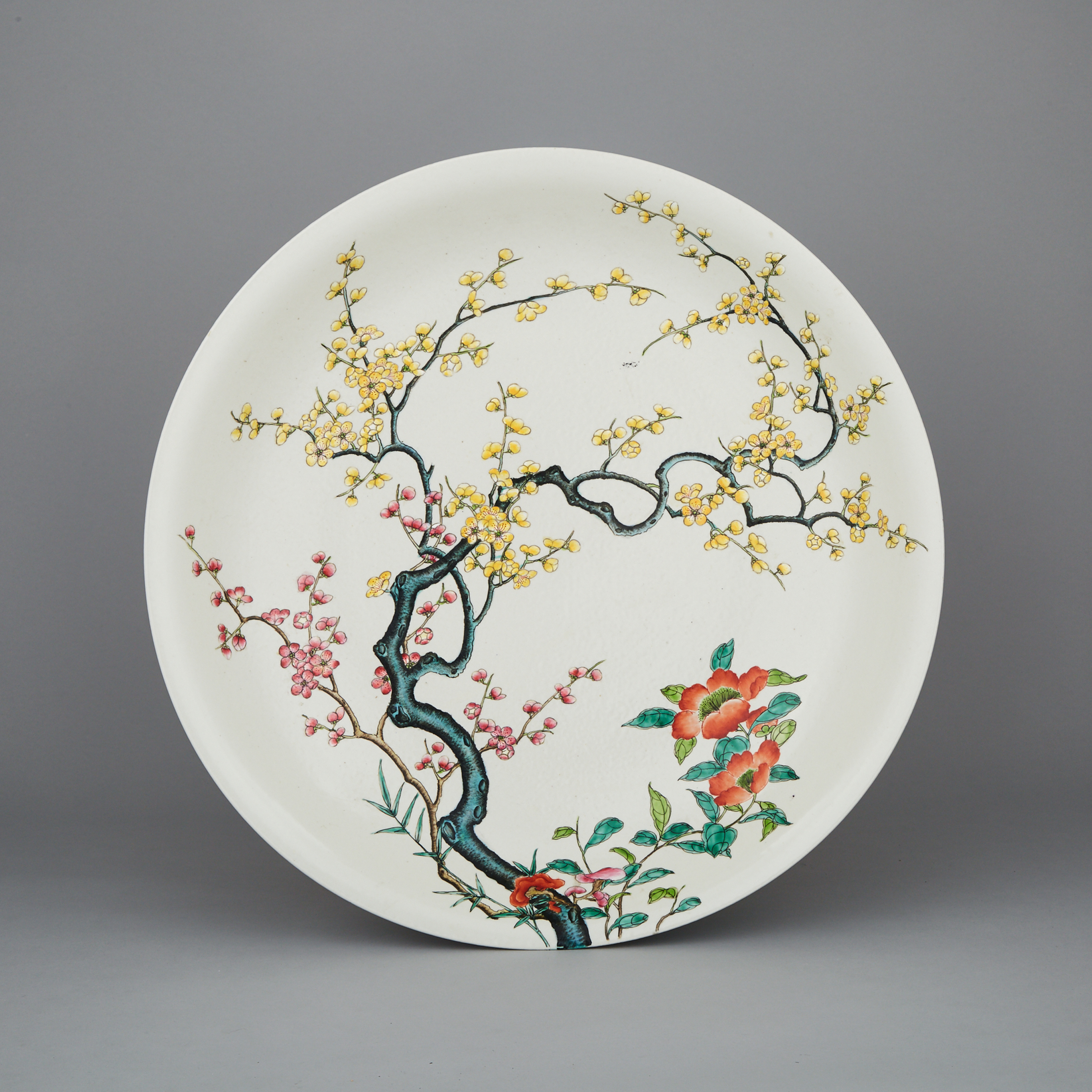 A Massive Famille Rose Charger, Yongzheng Mark, 20th Century