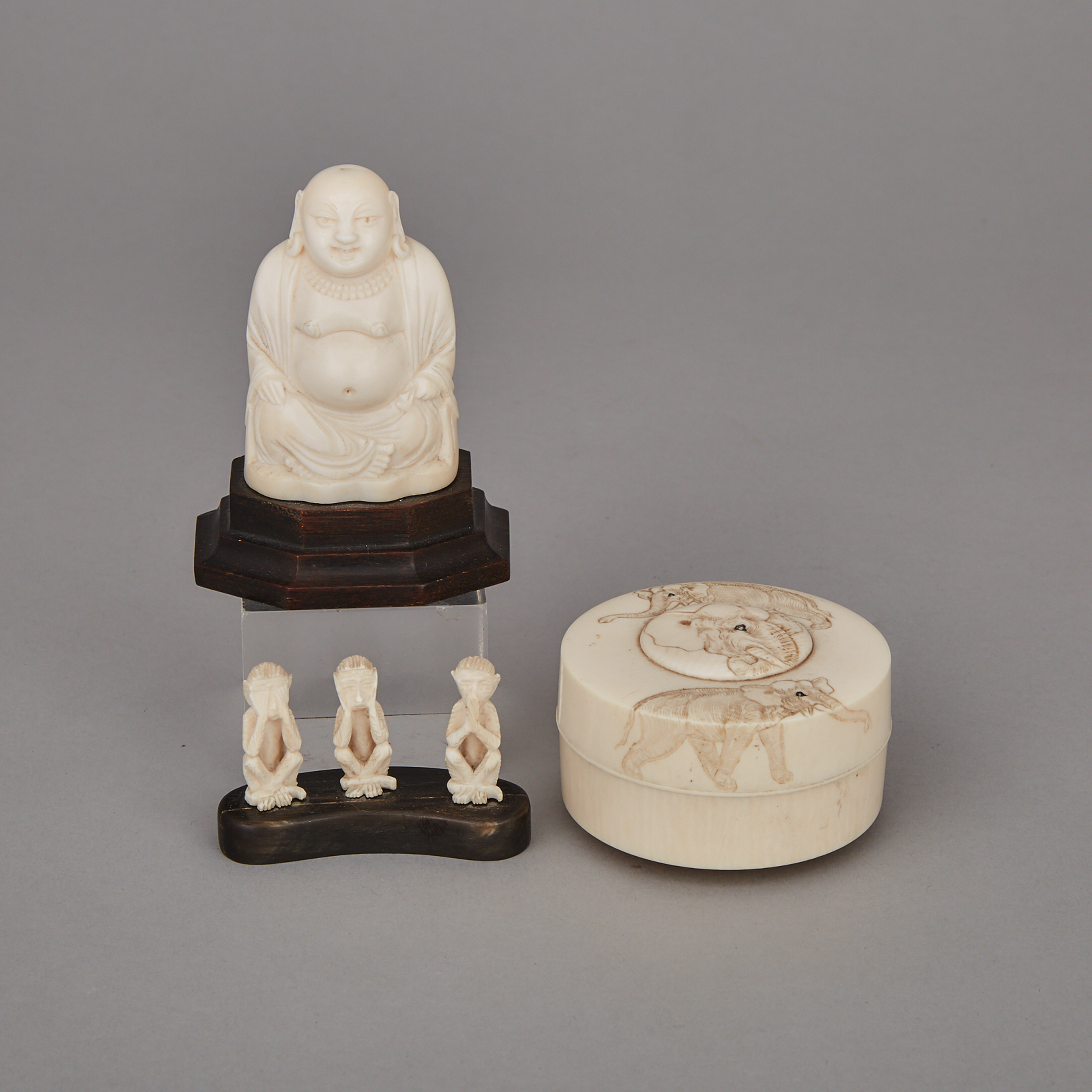 A Group of Three Ivory Carvings