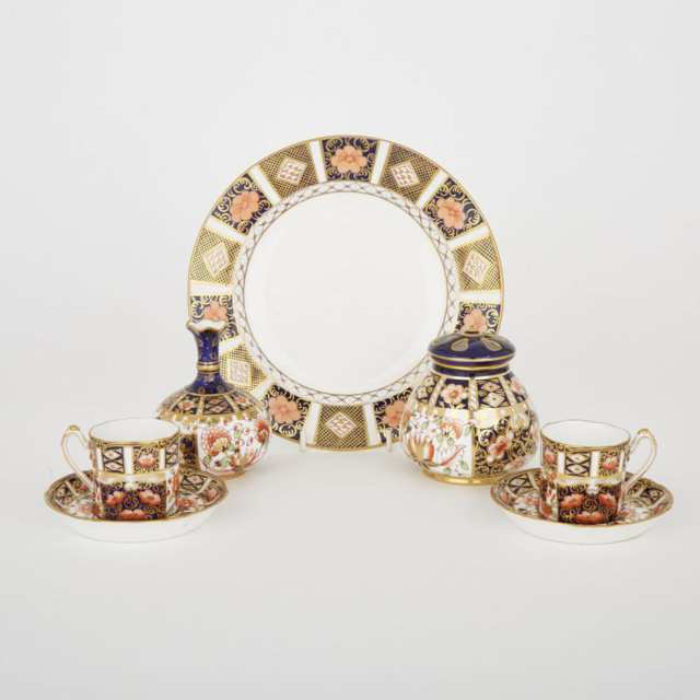 Group of Royal Crown Derby Imari Pattern Articles, 20th century