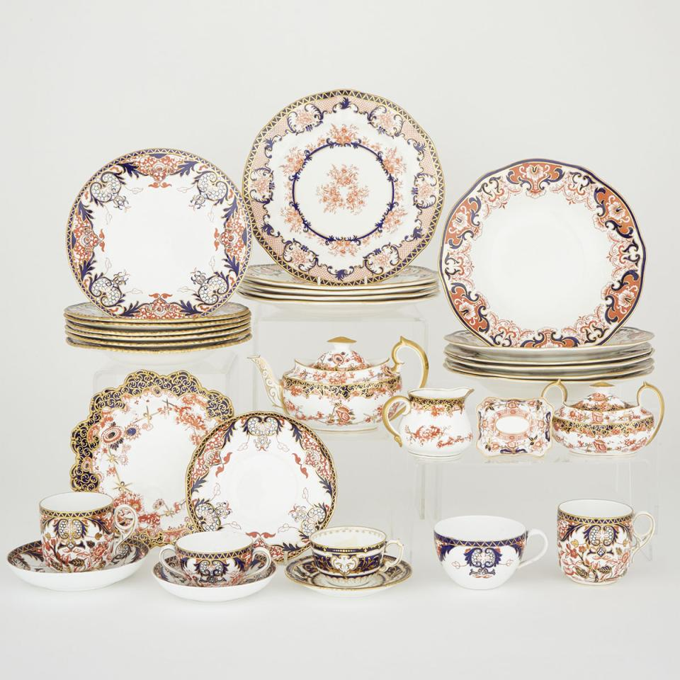 Group of Royal Crown Derby Tablewares, late 19th/early 20th century