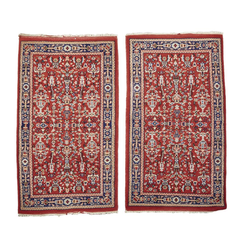 Pair of Indian Rugs, middle 20th century