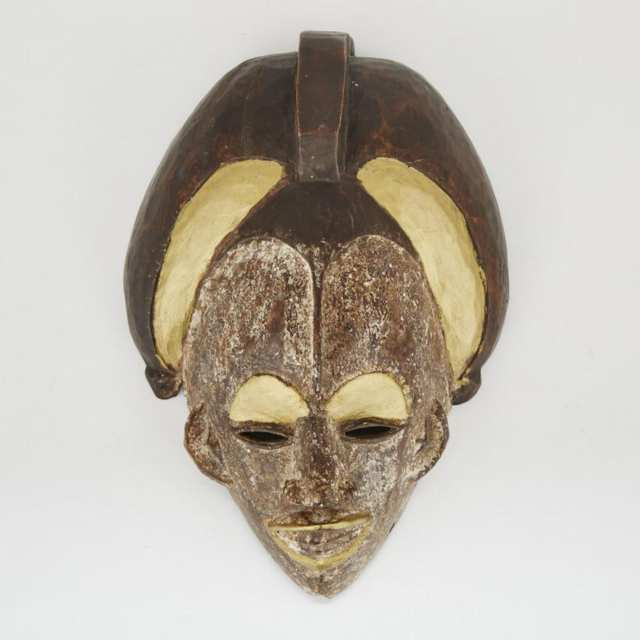 Unidentified Mask, possibly Punu, Gabon, West Africa