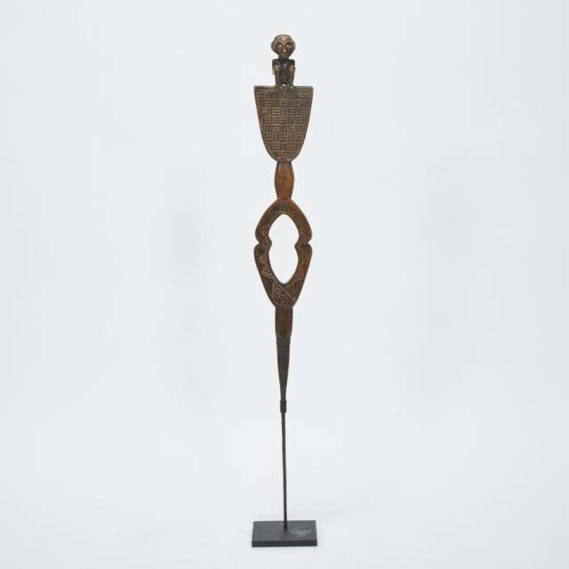 Luba Figural Marker Staff, Democratic Republic of Congo, Central Africa