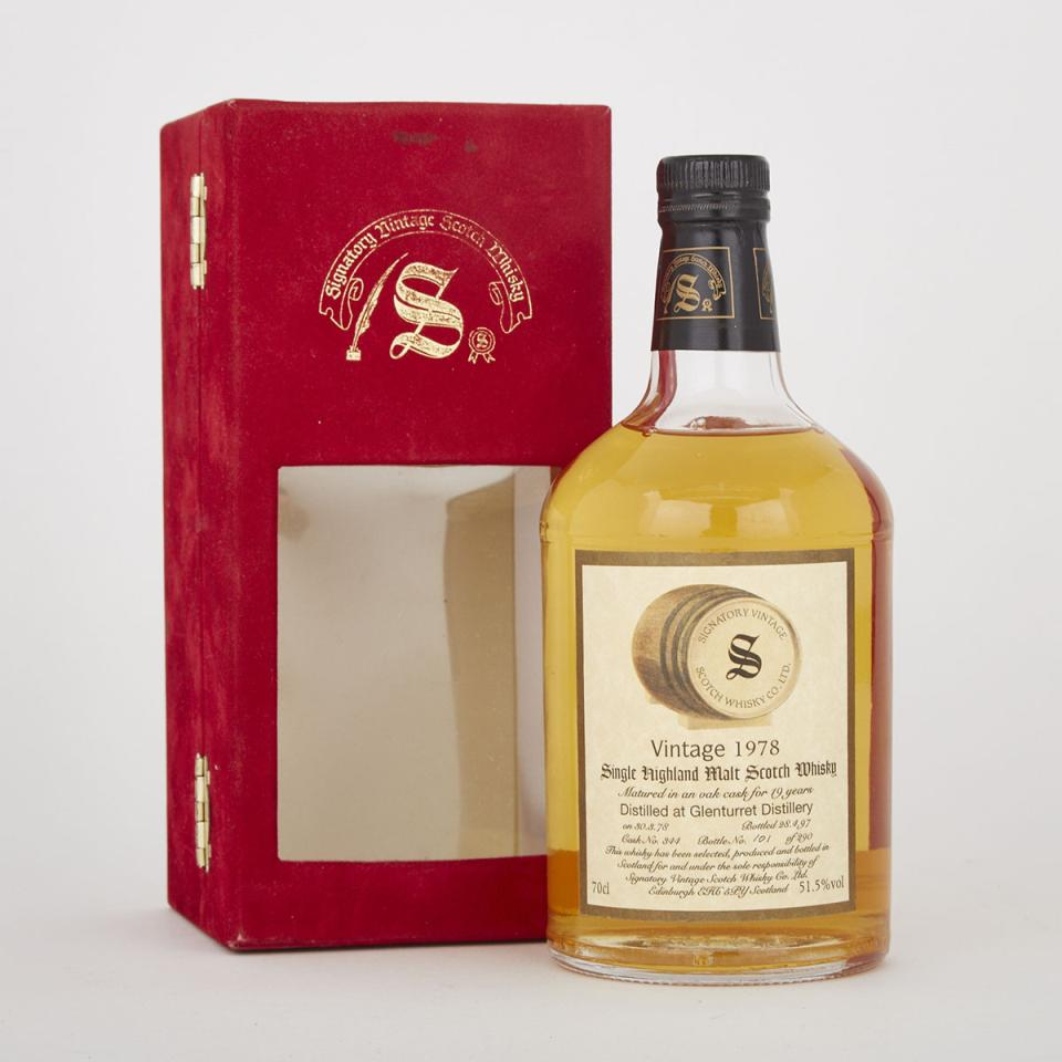 GLENTURRET SINGLE HIGHLAND MALT SCOTCH WHISKY  (1 70CL)