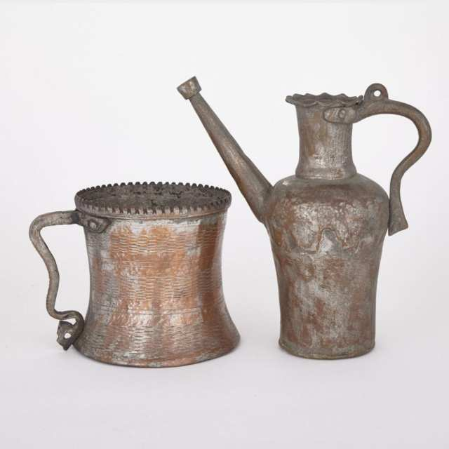 Two Persian Vessels, 19th Century