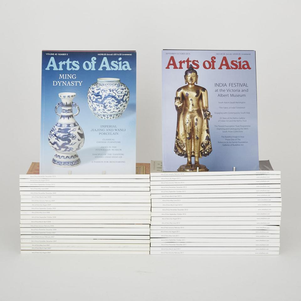 A Group of Forty-Five Arts of Asia Magazines (2007-2015)
